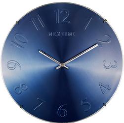 Niebieski zegar ścienny Elegant Dome Nextime 35 cm 3236 BL