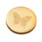 Drewniany badzik 2,5 cm - motyl - motyl