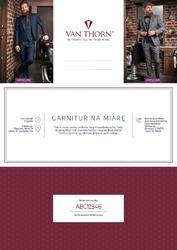 Karta podarunkowa na garnitur szyty na miarę van thorn + koszula gratis e-voucher pdf