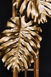 Złota monstera - plakat