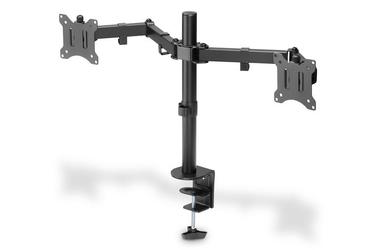 Digitus uchwyt biurkowy podwójny z zaciskiem 2xlcd max. 32 max. obciążenie 2x 8kg uchylno-obrotowy czarny