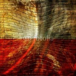 Obraz na płótnie canvas czteroczęściowy tetraptyk polska flaga