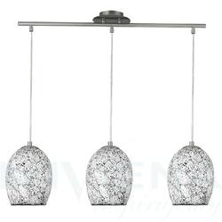 Crackle lampa wisząca 3 biały