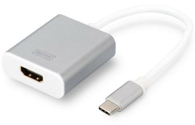 Digitus Adapter HDMI 4K 30Hz USB 3.0 Typ-C, obudowa aluminiowa, długość