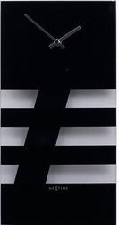 Zegar ścienny bold stripes czarny
