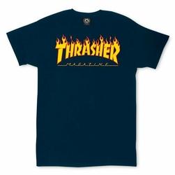 Koszulka Thrasher Flame Logo Navy - 110102NY - 110102 NY