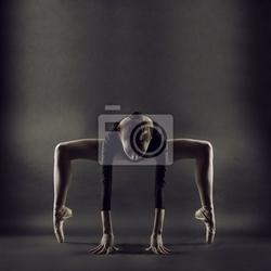 Fototapeta portret młodej kobiety piękne gimnastyk