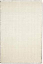 Koc herringbone biało-beżowy