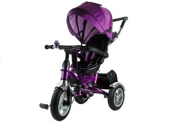 Leantoys pro500 fioletowy rowerek trójkołowy + prezent 3d