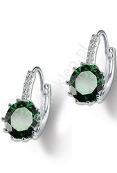 Kolczyki z kryształkami zielone