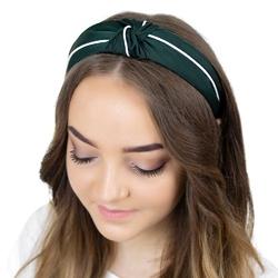 Opaska do włosów turban węzeł pin up zielona