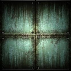 Obraz na płótnie canvas czteroczęściowy tetraptyk tekstury blachy