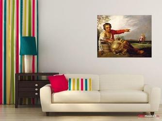 pastuszek wskazujący na tobiasza i anioła - abraham bloemaert ; obraz - reprodukcja