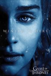 Game of thrones winter is here daenerys targaryen - plakat