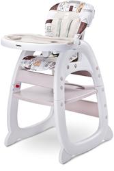 Caretero Homee Beżowe Krzesełko do karmienia 2w1 + Puzzle