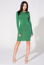 Zielona Sukienka Bodycon z Dekoltem na Plecach