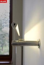 Kinkiet linkowy LED do montażu ściennego zasilanie podtynkowe - przesłona mleczna - biały ciepły