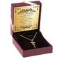 Srebrna pozłacana zawieszka wróżka z cyrkoniami z łańcuszkiem pr. 925 prezent z dedykacją