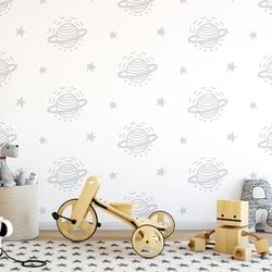 Tapeta dziecięca - minimal planets , rodzaj - tapeta flizelinowa laminowana