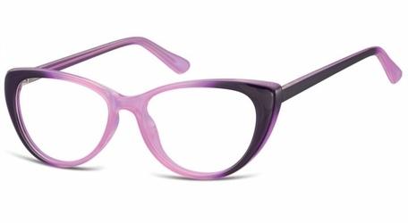 Oprawki korekcyjne kocie oczy zerówki sunoptic cp138d gradient purpurowy