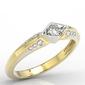 Pierścionek z żółtego i białego złota z diamentami ap-44zb