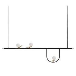 Artemide :: lampa wisząca yanzi mosiężna czarna 156 cm