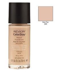 Revlon colorstay makeup combinationoily skin kosmetyki damskie - podkład do twarzy do skóry tłustej i mieszanej 350 rich tan 30ml
