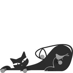 Wieszak ścienny Cat CalleaDesign czarny 53-13-1-5