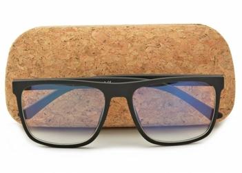 Okulary nerd z filtrem światła niebieskiego do komputera zerówki r-bl-1611k