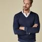 Pullover v-neck indigo s