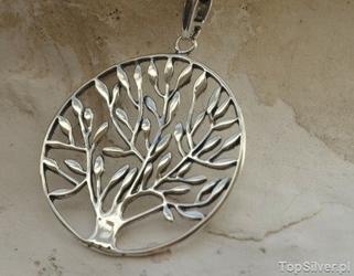 Natura - srebrny wisior drzewo