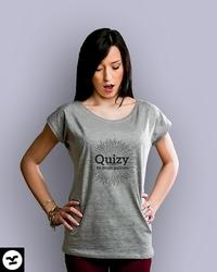 Quizy to moje paliwo t-shirt damski jasny melanż xxl