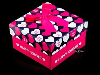 Prezentowe pudełko na zegarek - happy forever