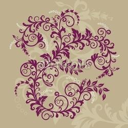 Plakat na papierze fotorealistycznym piękny czerwony kwiatowy ornament