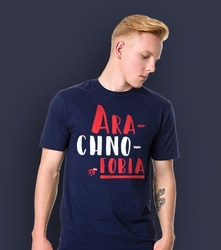Arachnofobia t-shirt męski granatowy m