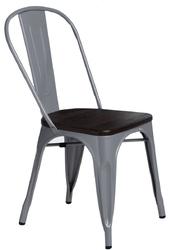 Krzesło paris wood sosna szczotkowana - szary