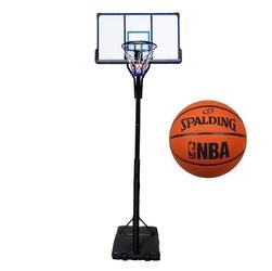 Zestaw kosz do koszykówki przenośny top + piłka spalding nba logo