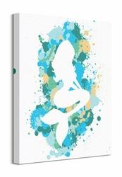 Splatter Silhouette Mermaid - obraz na płótnie