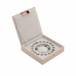 Pudełko na bransoletkę i charmsy Stackers jasnoróżowe
