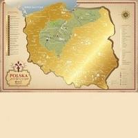 Mapa zdrapka polska pielgrzyma