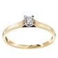 Staviori pierścionek. 1 diament, szlif brylantowy, masa 0,18 ct., barwa h, czystość si2. żółte złoto 0,585.