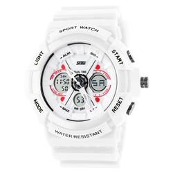 Zegarek SPORTOWY SKMEI 0966 DATOWNIK LED white - WHITE