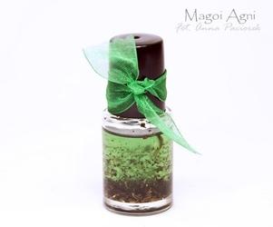 Olejek do namaszczania świec, kamieni, talizmanów zielony - pieniądze, zdrowie