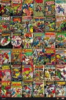 Marvel comics classic covers - plakat