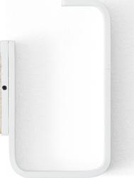 Uchwyt na papier toaletowy prostokątny biały