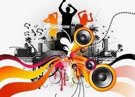 Taniec, muzyka, zabawa - fototapeta
