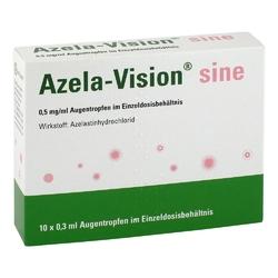 Azela-vision sine 0,5 mgml augentropfen i.einzeldosis.