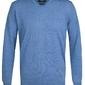 Elegancki niebieski sweter prufuomo z delikatnej wełny merynosów m