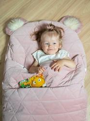 Śpiworek dream catcher triangles pink 120x60 cm