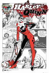 DC Comics Harley Quinn retro - plakat